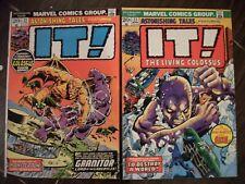 Astonishing Tales Lot #22,23 1974 It! Colossus Marvel Horror Happy Halloween!