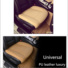 3D Beige PU Leather Bamboo Charcoal Car Truck Breathable Seat Cushion Protector
