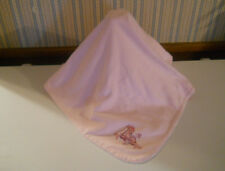 Disney Store Baby receiving blanket BAMBI 2 ply pink ric rac trim butterfly