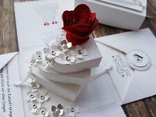 Explosionsbox zur Hochzeit, Geschenkverpackung -mit Herzen-, Stampin up