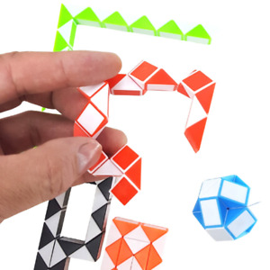 Mini Snake Cube Puzzle Twist Party Favor Gift Bags