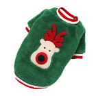 Pet Dog Christmas Suit Costume Coral Fleece Xmas Party Soft Warm Sweatshirt