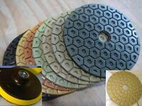 Wet Dry Diamond Polishing Pads 4 Inch Set Kit For Granite Concrete Marble THICK