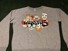 Sweet Maroon 5 Adam Levine sweatshirt fleece concert tour shirt