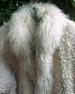 Vintage 1960s Mongolian Lambswool Bomber Jacket