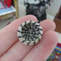 Dollhouse Artisan Native American Basket Miniature Woven Handmade Papago? Pima?