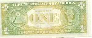 1969 D   NEW YORK 1$ NOTE GREAT UNDER INKING  UNCIRCULATED  #33