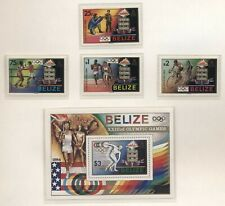 Belize 1984 Olimpiadi di Los Angerles serie cpl e BF nuova integra MNH T314