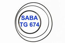 SET CINGHIE SABA TG 674 REGISTRATORE A BOBINE BOBINA EXTRA FORTI FRESCHE TG674