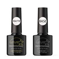 Matte Top and Base Coat LETUTE™ Soak Off UV/LED Nail Gel Polish