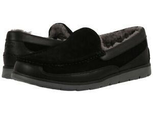 NEW UGG Fascot BLACK Indoor/Outdoor Fur Lined Casual Shoes Slippers Mens US9