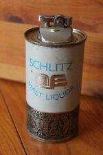 1967 Jos Schlitz Brewing Co SCHLITZ MALT LIQUOR Beer Can Table Lighter Vintage