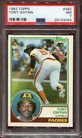 1983 Topps TONY GWYNN #482 Rookie PSA 7 (NM) HOF Padres BASEBALL CARD RC