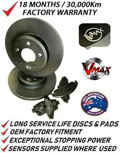 fits SSANGYONG Stavic 2.7 3.2L 05 Onwards FRONT Disc Brake Rotors & PADS PACKAGE