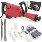 2200W Electric Demolition Jack Hammer Construction Concrete Breaker Punch 2 Bits