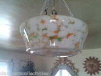 REFRESHING SPRING ART DECO CEILING PENDANT LIGHT SHADE - CHAINS - FREE ROSE