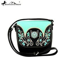 Montana West Concho Collection Messenger Bag Turquoise