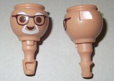 03719, 2x Kopf, Opa, Großvater, mit Brille und Bart (Asien)