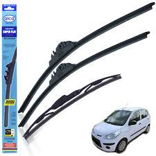 "Hyundai i10 2008-2013 wiper blades alca SUPER FLAT 22""16"" + rear 12""X2"
