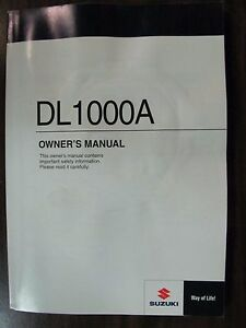 2014 SUZUKI DL1000A OWNERS MANUAL (USED)