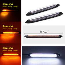 """2× 10,83 """"Auto modifizierte LED weiß DRL gelb fließend Blinker Licht wasserdicht"""