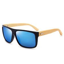 New Men's Vintage Retro Sunglasses Bamboo Wooden Wood Frame Shades Glasses UV400