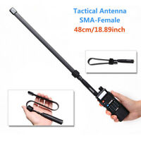 Abbree Fodable Tactical Antenna SMA-Female For Baofeng UV-5R/82 Two Way Radio US
