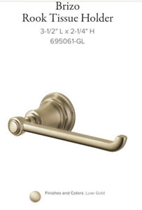 New Brizo 695061-GL Rook Tissue Holder Luxe Gold