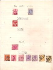 More details for 11 old austalian states  stamps on an album page.