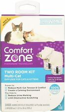 😻 Comfort Zone Cats & Kitten 2 Diffusers Multi Cat Calming Two Room Kit New
