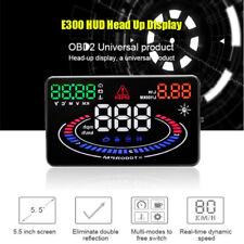 "E300 HUD Head Up Display 5.5"" OBD II 2 Höchstgeschwindigkeit RPM Warnsystem"