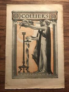 J C LEYENDECKER- VINTAGE COVER- COLLIERS FULL ISSUE THANKSGIVING 1898