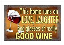 Signo de vino o 'clock signo, bar pub Sign Cocina Sign Pared Signo