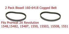 2 pkGenuine Bissell 1548 Pro Heat 2X Revolution Large Brush Cogged Belts 1606418