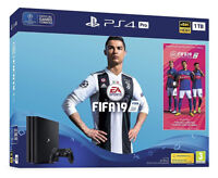 Sony PlayStation 4 Pro 1TB FIFA 19 Console Bundle - 4K HDR Jet Black