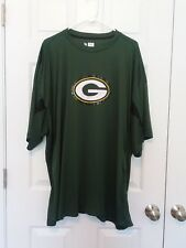 Mens NFL Team Apparel Green Bay Packers Shirt 4X Short Sleeves