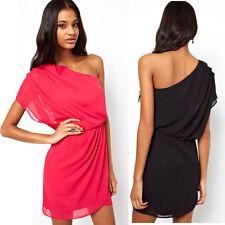 2015 Women Oblique Strapless Pleated Chiffon Dress Fashion Sexty Summer Dress