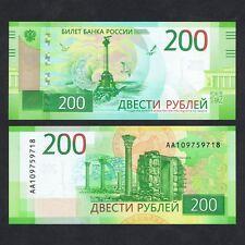 2017 RUSSIA 200 RUBLES P-NEW UNC *AA PREFIX*