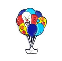 IT Pennywise Enamel Pin Clown Pin Stephen King Horror Pin Red Balloon Scary