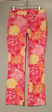 lily pulitzer Floral Jeans Pink Size 6