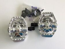 """VP D-70 SPD style Pedals - 9/16"""" - Silver"""