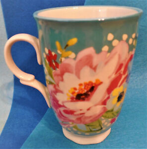 The Pioneer Woman Stoneware Mug 16 Oz Floral Pattern NM Condition