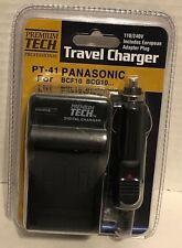 Premium Tech PT-41 Travel Charger Panasonic BCF10 BCG10 AC 110/240V 56/60Hz