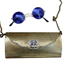 Steampunk Purse goggles lady angel goth gun metal Victorian retro lunch bag box