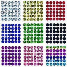 36 Bügelpailletten Hologramm, 10 mm rund, Hotfix Pailletten zum Aufbügeln