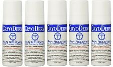 Cryoderm Pain Relieving Roll-on, 3oz. - Special 5 Pack !