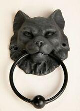 "Gothic Fantasy Cat's Head Gargoyle Door Knocker Superb Detail Faux Stone 7.5"""