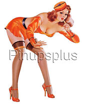 Vintage Pulp Comic Pin-up Girl Waterslide Decal Great for smooth surfaces S175