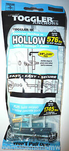 2x Toggler ULTRA Heavy Duty Hallow Wall Mounts Drywall/Plasterboard 576lbs togle