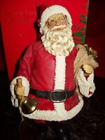 "1988 CLOTHTIQUE POSSIBLE DREAMS TRADITIONAL SANTA WITH BELL 10"" MIB"